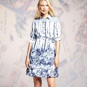 Peter Som Blue & White Shift Dress Sz 12
